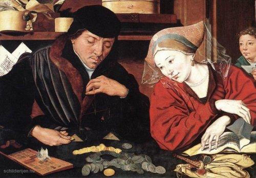Bankier met zijn vrouw.